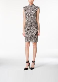 Calvin Klein Stand-Collar Printed Sheath Dress