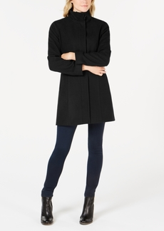 Calvin Klein Stand-Collar Wool-Blend Coat