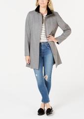 Calvin Klein Stand-Collar Wool-Blend Coat