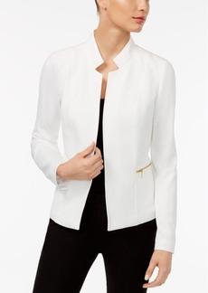 Calvin Klein Stand-Collar Zip-Pocket Blazer