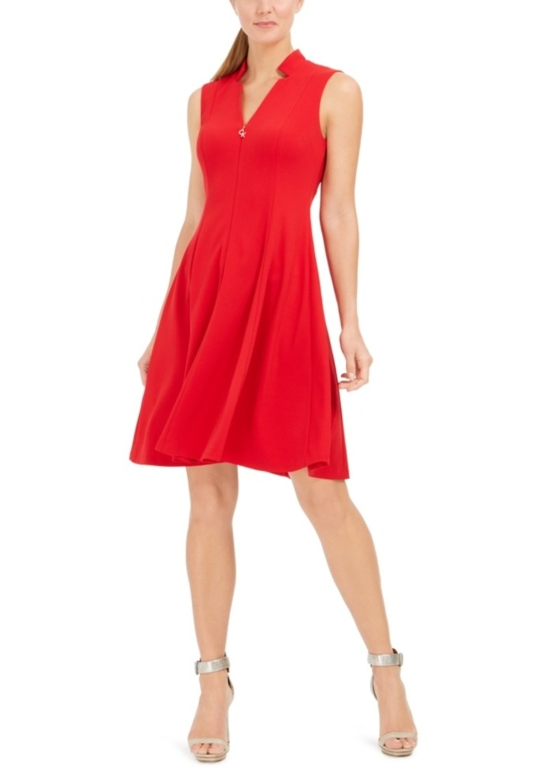 Calvin Klein Star-Neck A-Line Dress