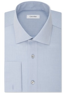 Calvin Klein Steel Men's Classic-Fit Non-Iron Performance French Cuff Dress Shirt