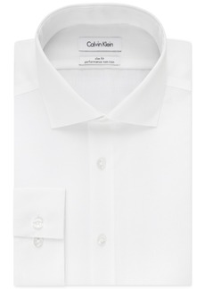 Calvin Klein Steel Men's Slim-Fit Non-Iron Performance Solid Dress Shirt