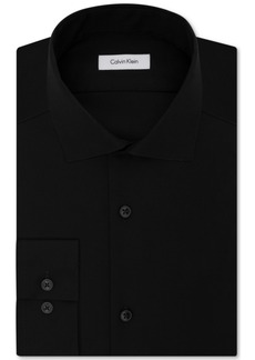 Calvin Klein Steel Men's Slim-Fit Non-Iron Performance Solid Dress Shirt