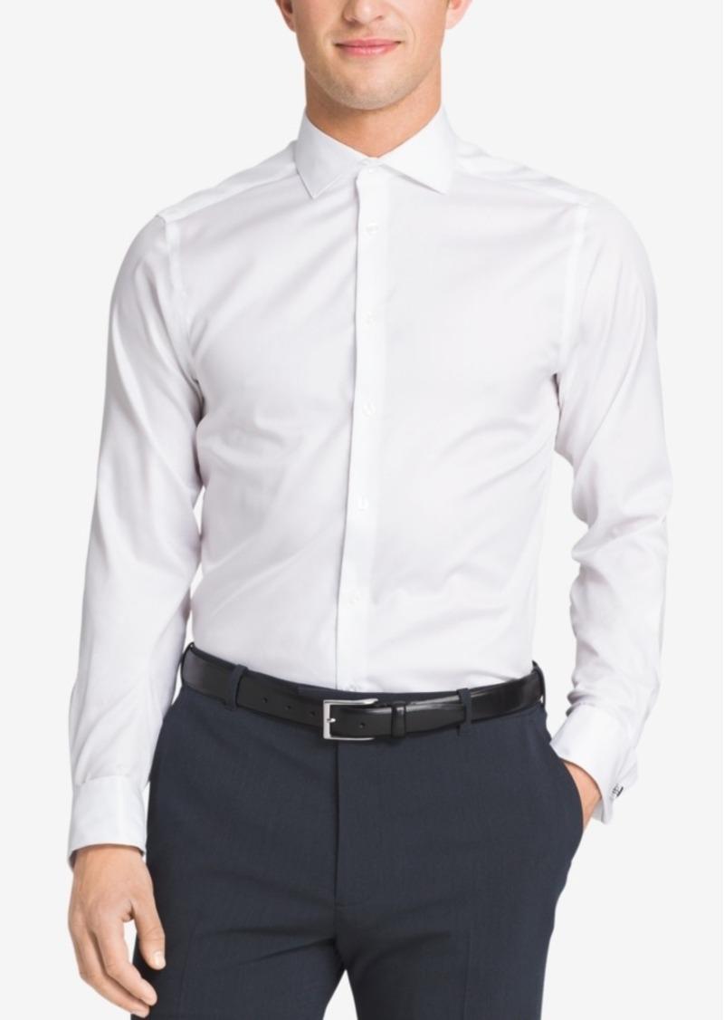 Calvin klein calvin klein steel men 39 s slim fit non iron for Men french cuff dress shirts