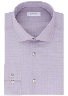 Calvin Klein Steel Men's Slim-Fit Non-Iron Stretch Performance Print Dress Shirt