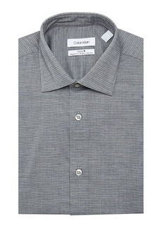 Calvin Klein Steel Regular-Fit Non-Iron Dobby Dot Stretch Dress Shirt