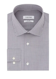 Calvin Klein Steel Regular Fit Stretch Check Dress Shirt