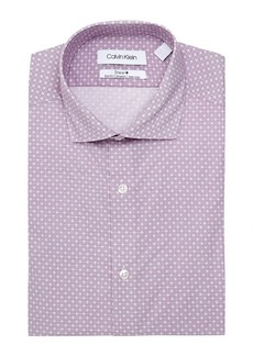 Calvin Klein Steel Slim-Fit Non-Iron Dotted Cross Dress Shirt