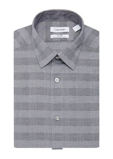 Calvin Klein Steel Slim-Fit Non-Iron Plaid Stretch Dress Shirt