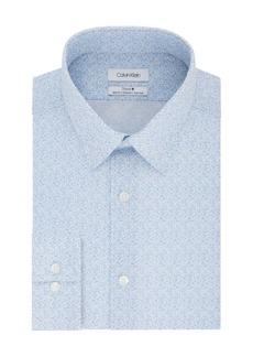 Calvin Klein Steel Slim-Fit Non-Iron Stretch Floral Dress Shirt