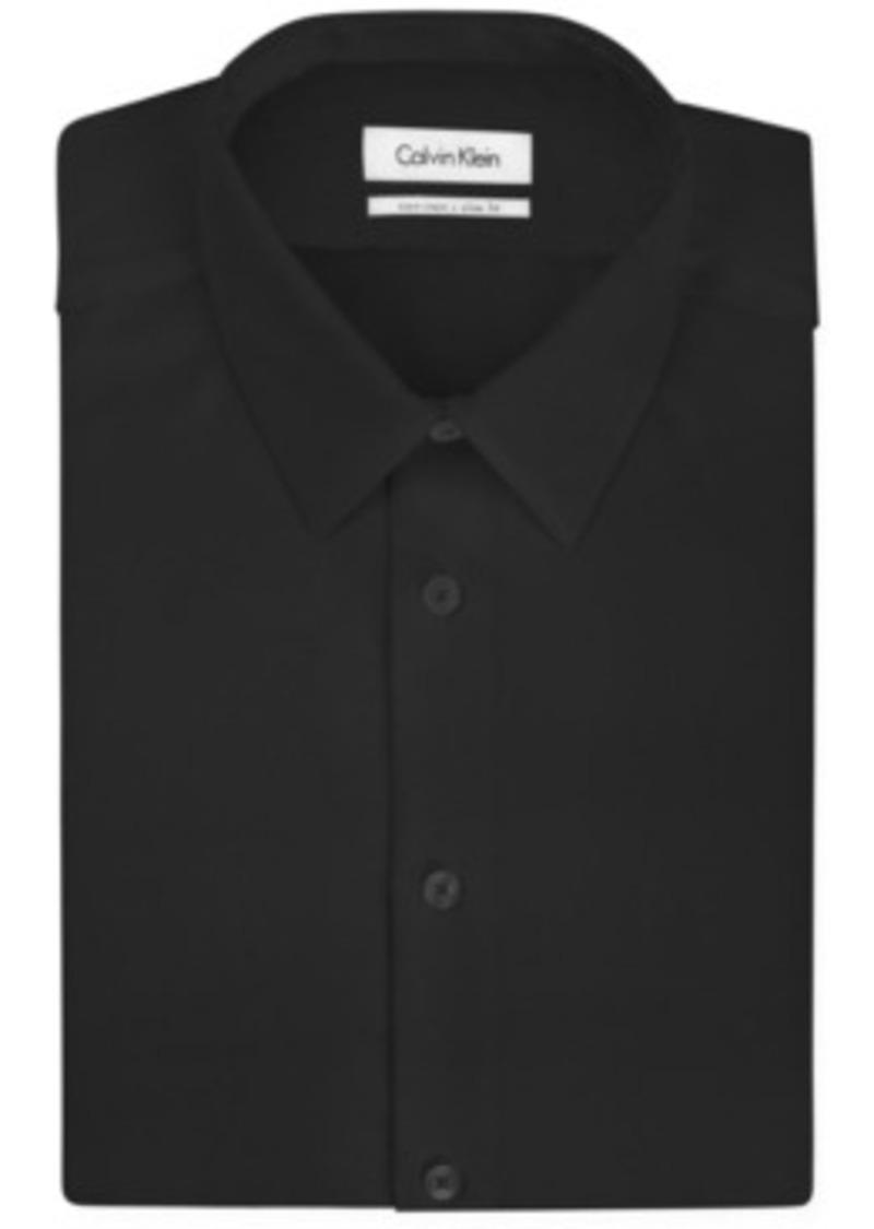 Calvin klein calvin klein steel slim fit non iron textured for No iron slim fit dress shirts