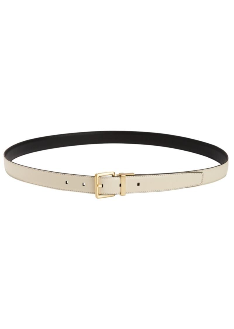 Calvin Klein Stitched-Edge Reversible Leather Belt