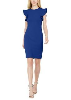 Calvin Klein Stitched-Ruffle Sheath Dress
