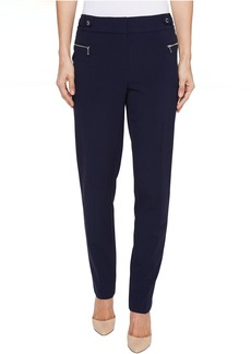 Calvin Klein Straight Leg Pants with Buckle and Zip
