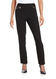 CALVIN KLEIN Straight-Leg Zip Pants