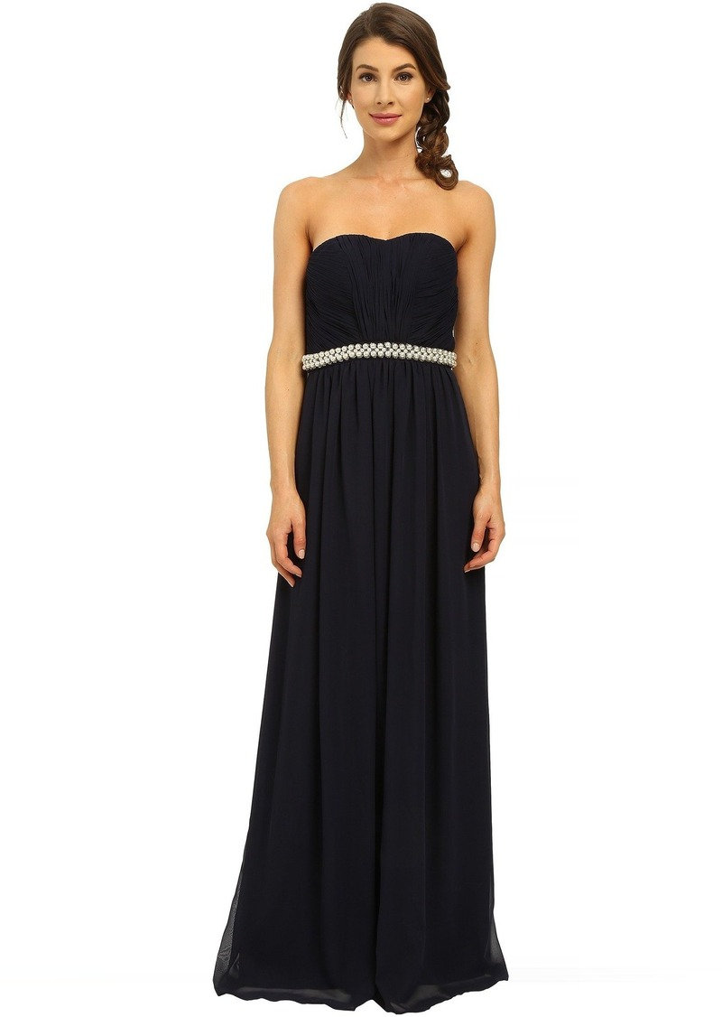 Calvin Klein Strapless Gown with Beading at Waist CD6B13N6