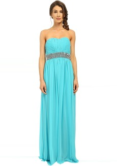 Calvin Klein Strapless Gown with Sequin at Waist CD6B2ZRZ