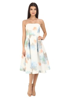 Calvin Klein Strapless Printed Floral Dress CD6B3R3M