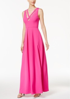 Calvin Klein Strappy X-Front V-Back Gown