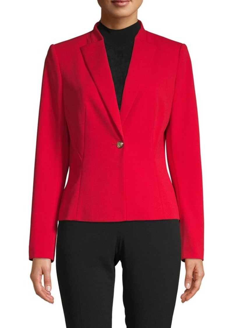 Calvin Klein Stretch Button-Front Blazer