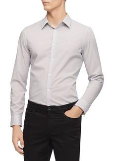 Calvin Klein Stretch Cotton Dot Print Shirt