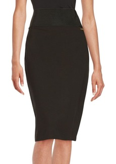 Calvin Klein Stretch Knit Pencil Skirt