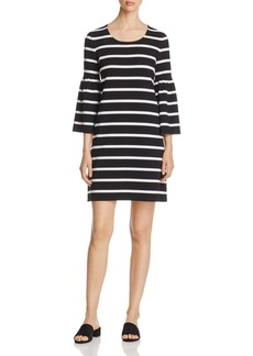 Calvin Klein Stripe Bell Sleeve Dress