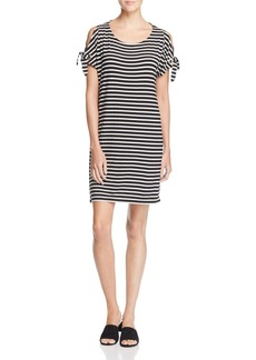 Calvin Klein Stripe Cold Shoulder Dress