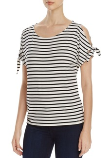 Calvin Klein Stripe Cold Shoulder Top