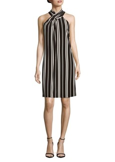 Calvin Klein Stripe Halter Dress