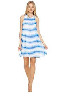 Calvin Klein Stripe Print Trapeze Dress