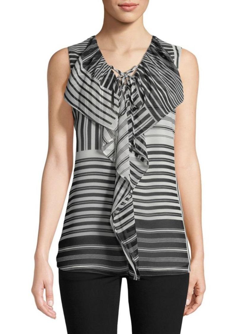 Calvin Klein Stripe Sleeveless Blouse