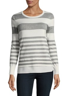 Stripe Two-Fer Sweater
