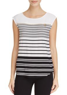 Calvin Klein Stripe Zip Trim Muscle Tee