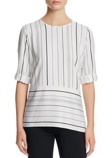 Calvin Klein Striped Angled Hem Top
