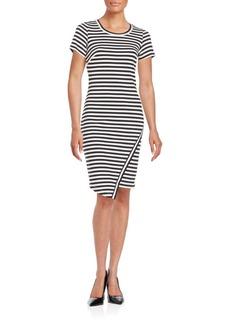 Calvin Klein Striped Asymmetrical Sheath Dress