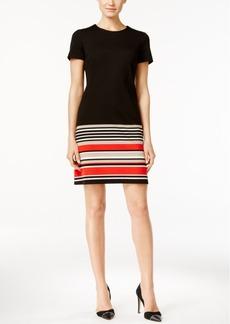 Calvin Klein Striped Border Shift Dress