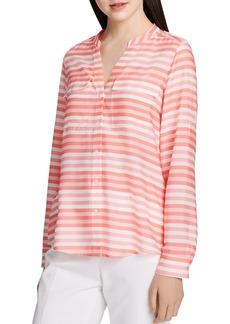 Calvin Klein Striped Button-Down Blouse