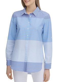 Calvin Klein Striped Button-Down Top