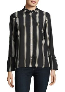 Calvin Klein Striped Button-Front Blouse