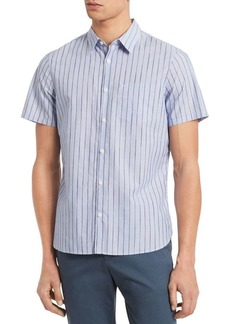 Calvin Klein Classic-Fit Space-Dyed Stripe Shirt
