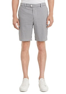 Calvin Klein Classic-Fit Stripe Flat-Front Shorts