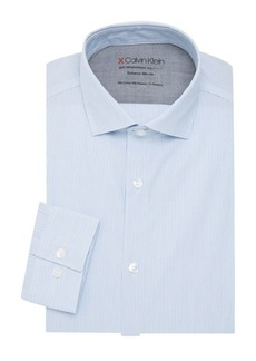 Calvin Klein Striped Extra Slim-Fit Dress Shirt