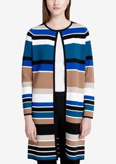 Calvin Klein Striped Flyaway Topper Jacket