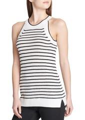Calvin Klein Striped Halter Sweater