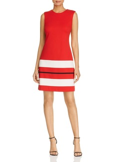 Calvin Klein Striped-Hem Mini Dress