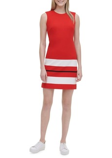Calvin Klein Striped Hem Sheath Dress