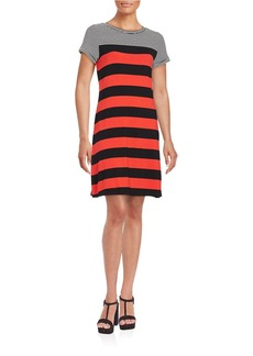 CALVIN KLEIN Striped Jersey T-Shirt Dress