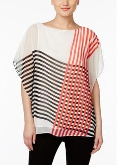Calvin Klein Striped Kimono Top